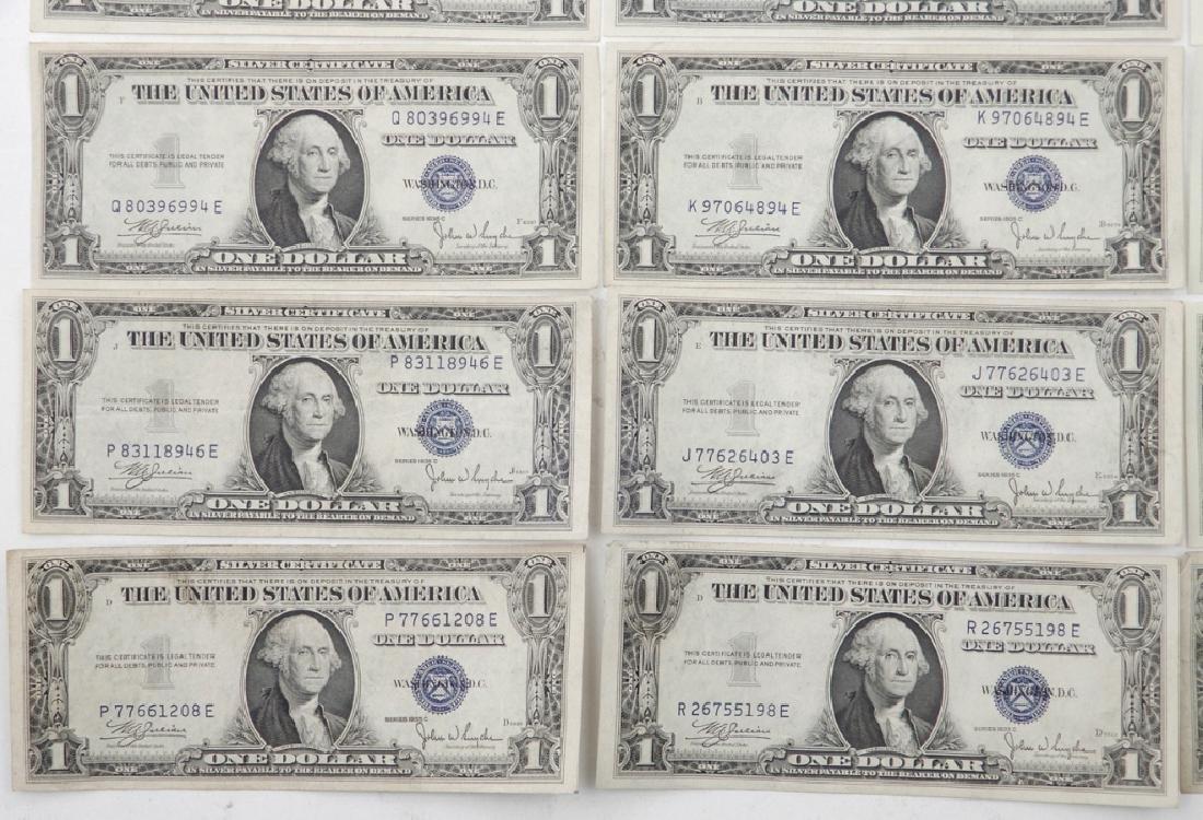 Twenty $1.00 silver certificates - 2