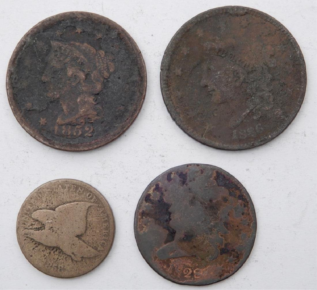 Large cents, half cent, and Flying Eagle cent
