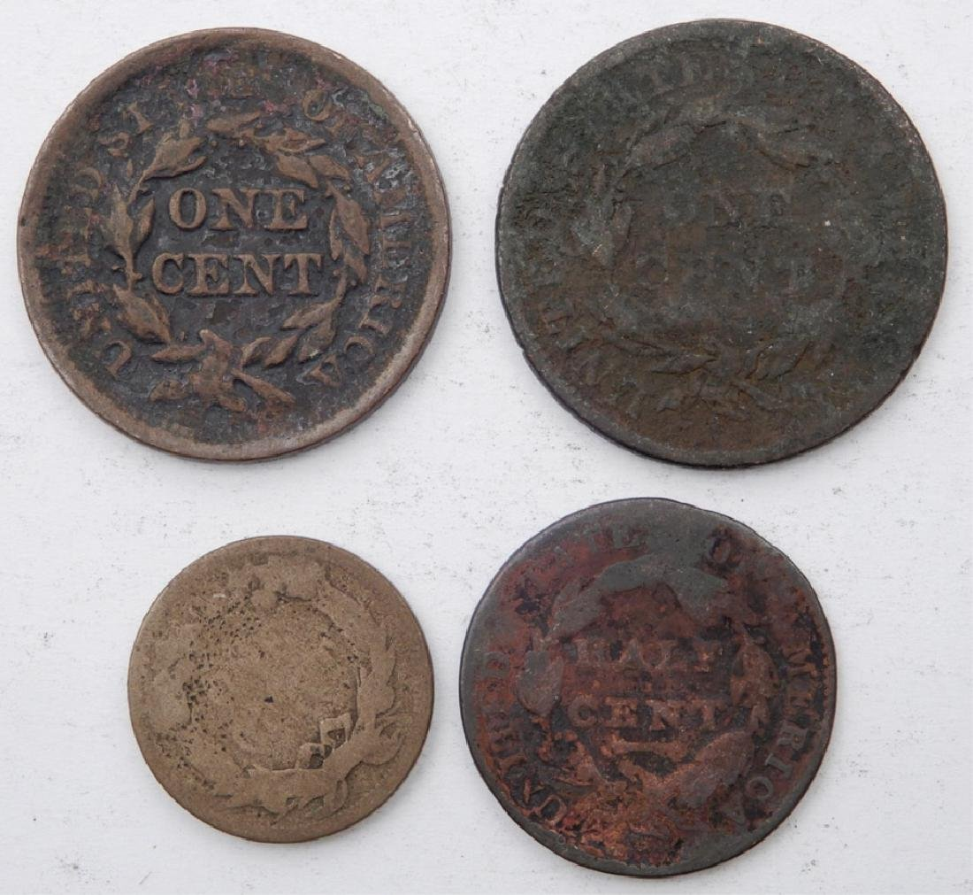 Large cents, half cent, and Flying Eagle cent - 2