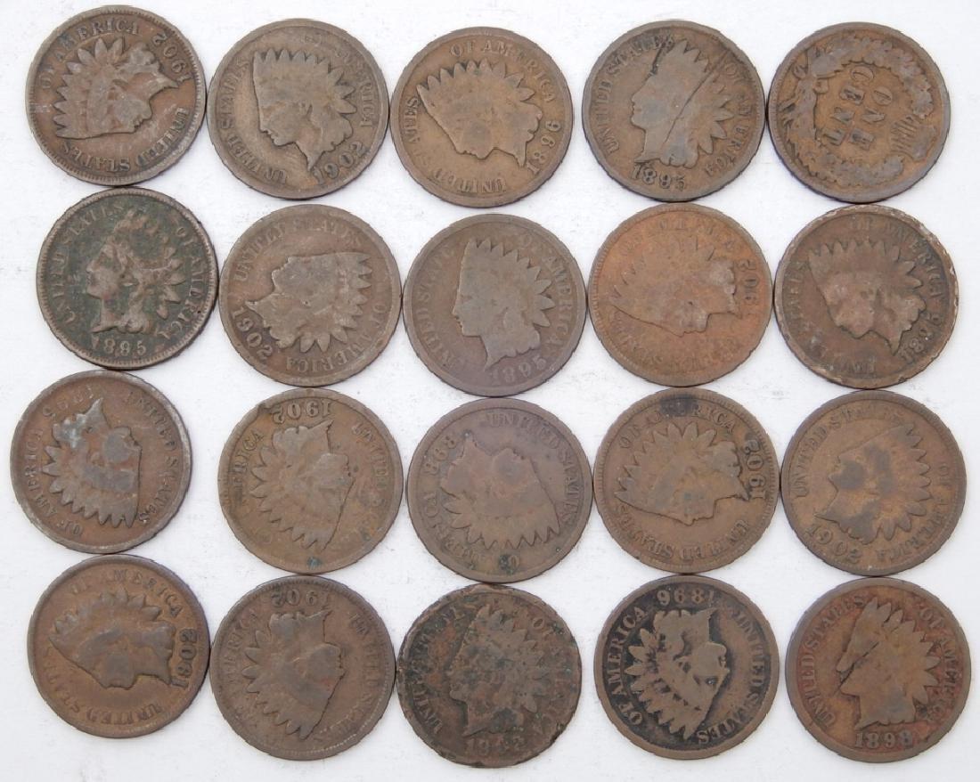 Twenty Indian Head cents