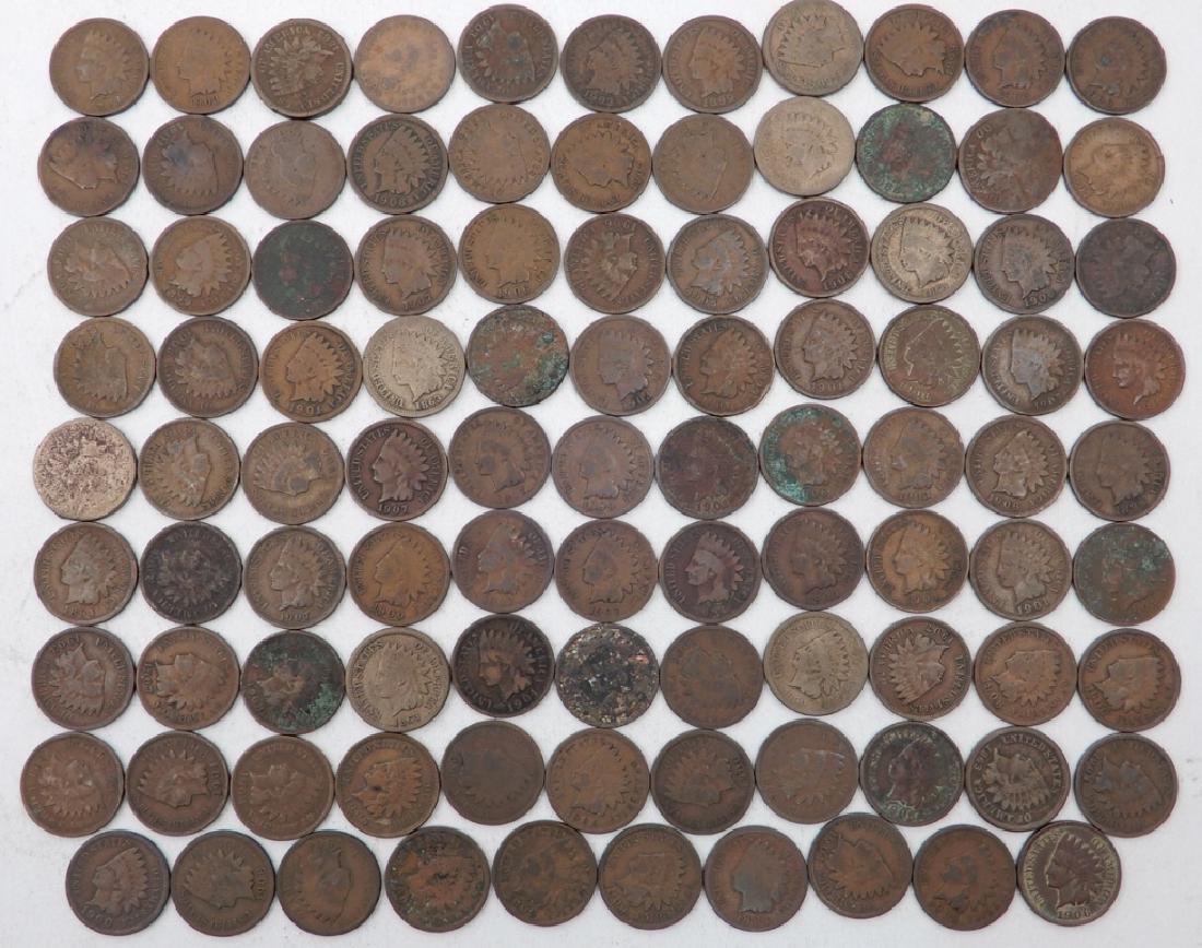 Ninety-eight Indian Head cents