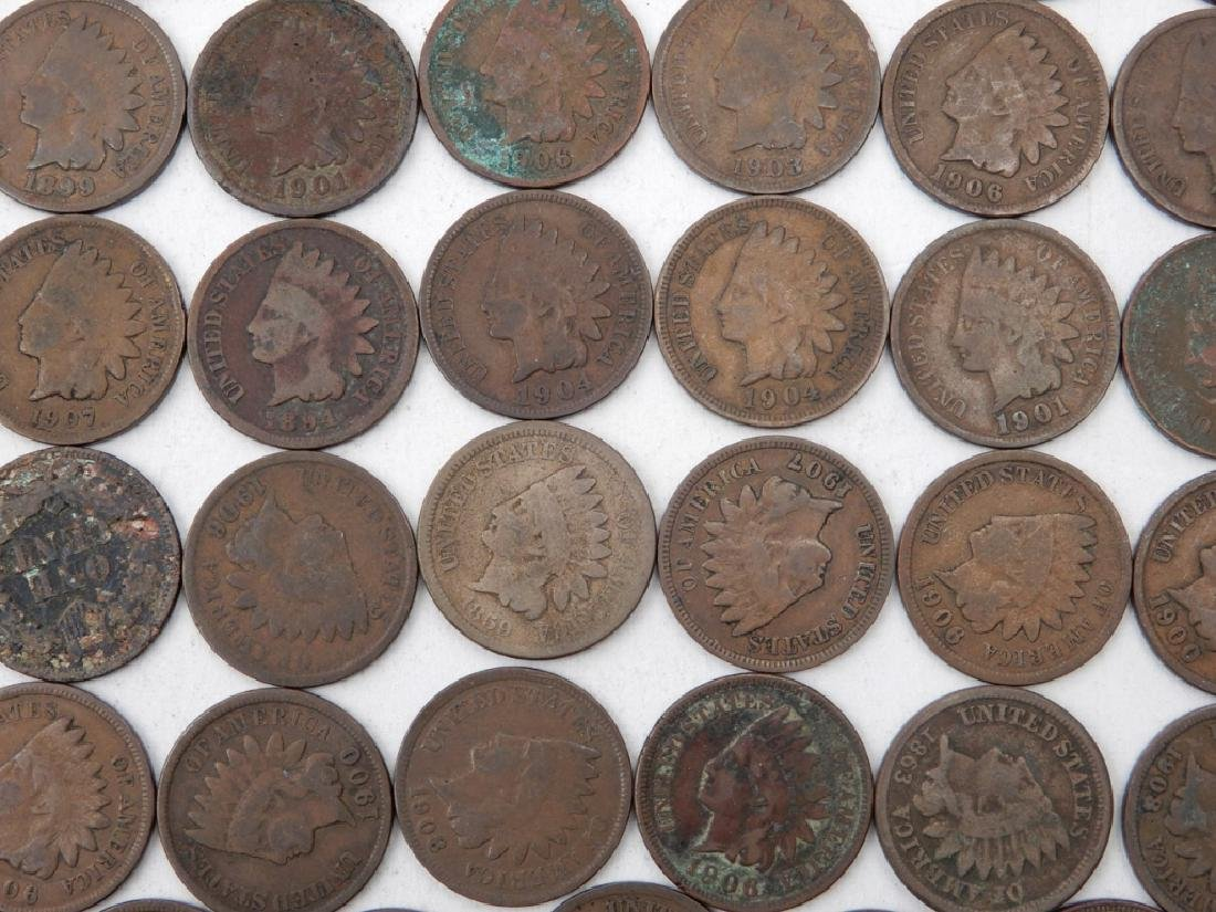 Ninety-eight Indian Head cents - 2