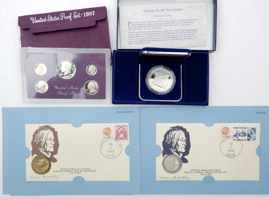 U.S. proof set, proof and a 1st day of issue set