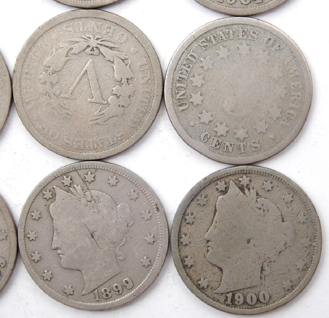 Fifteen Liberty Head nickels - 2