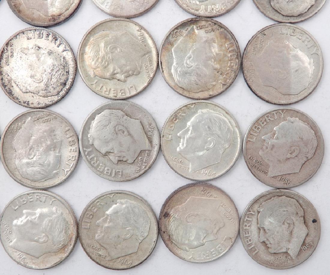Twenty five silver Roosevelt dimes - 2