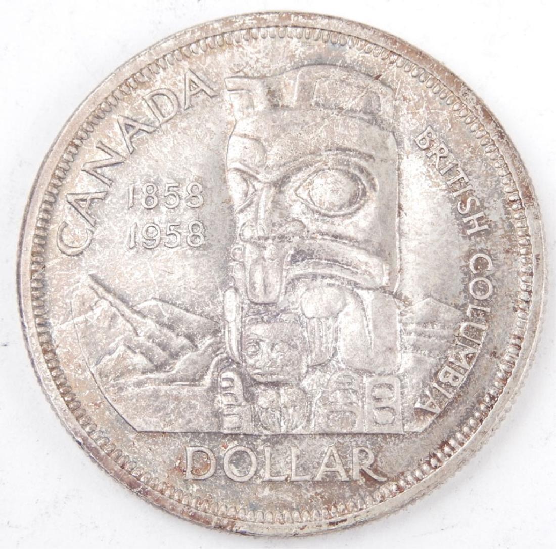 1858-1958 Canada Totem Pole silver dollar - 2