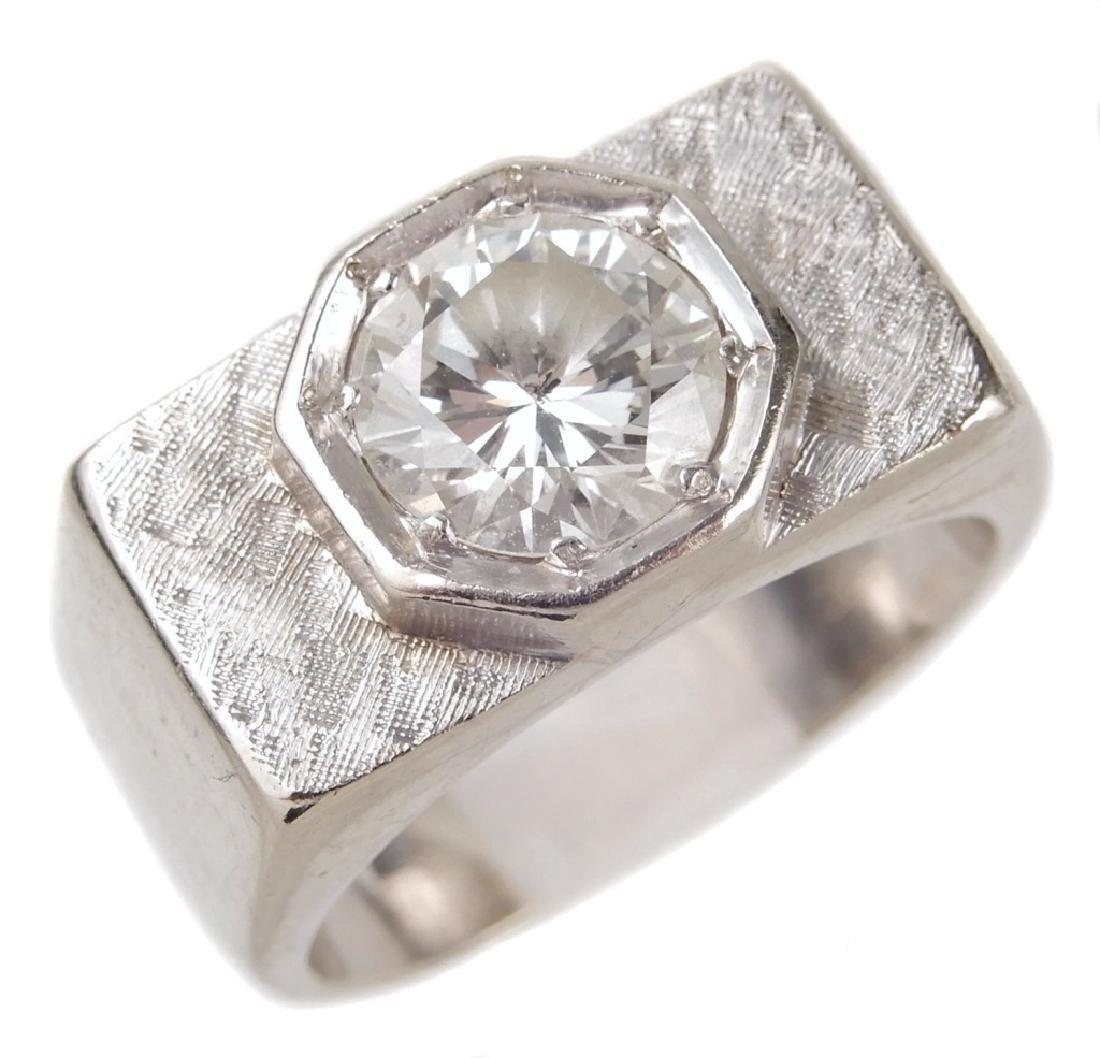 1.30 carat diamond solitaire ring