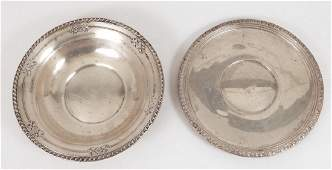 Empire sterling serving plate and a Wallace sterling