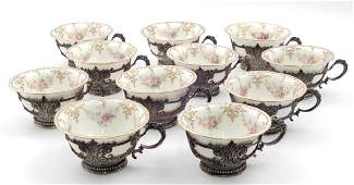 Tiffany & Co. sterling and Lenox porcelain cups
