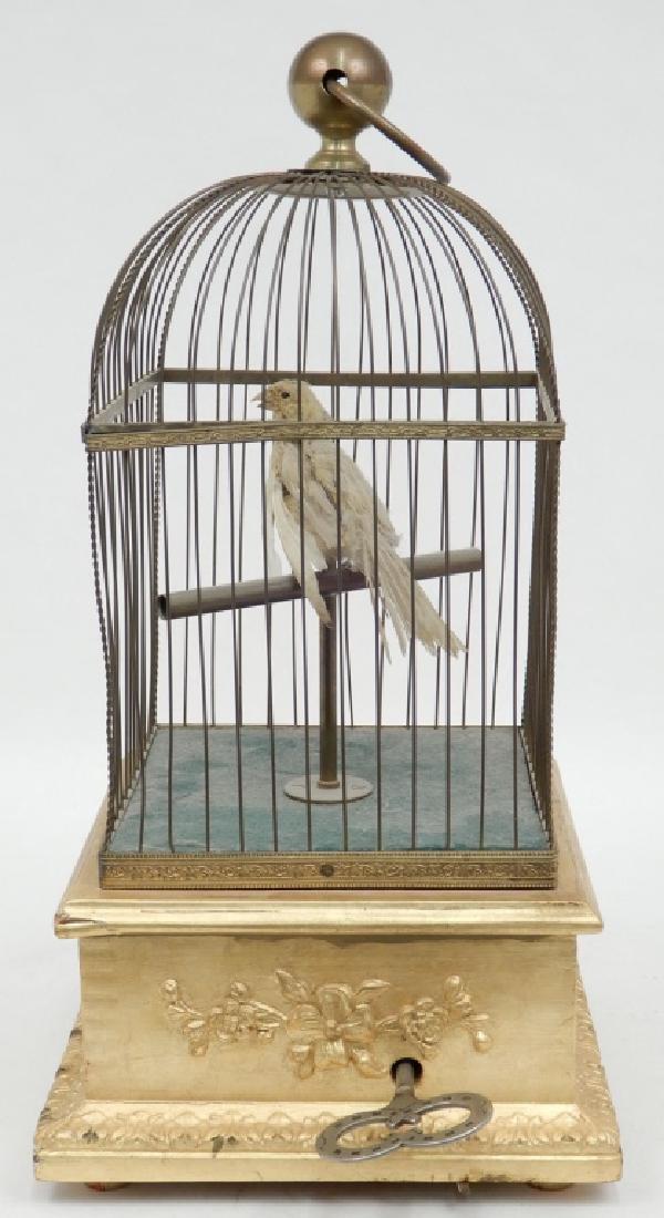 Automaton bird in cage