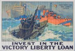 WWI lithographic poster on paper