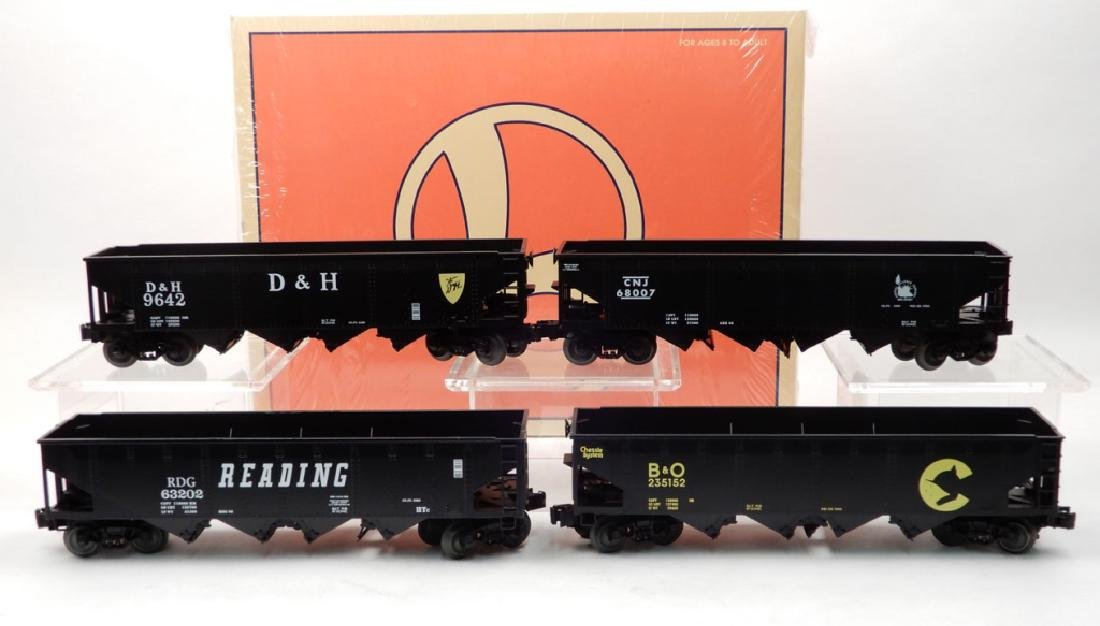 Lionel set of four die-cast 4-bay hoppers 6-26937 in