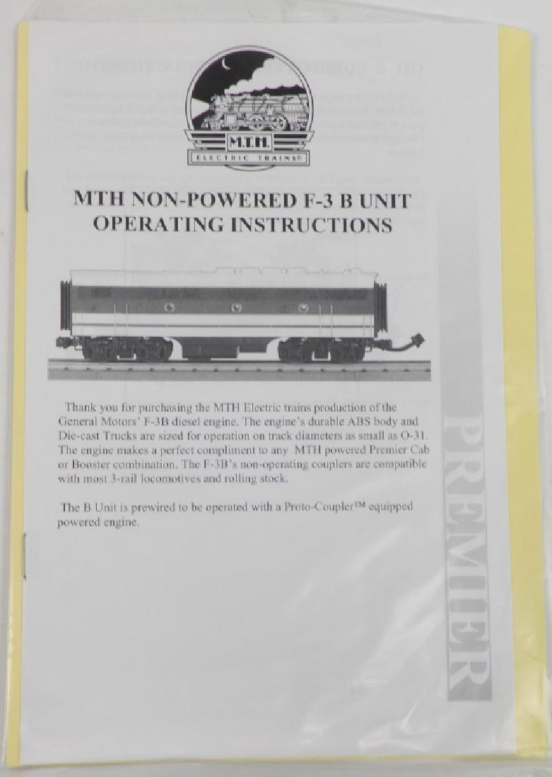 MTH NYC F-3 B-Unit Non Powered Diesel in original box - 5
