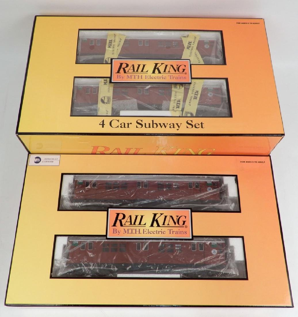 Rail King 4-car Subway set and 2-car add on set in