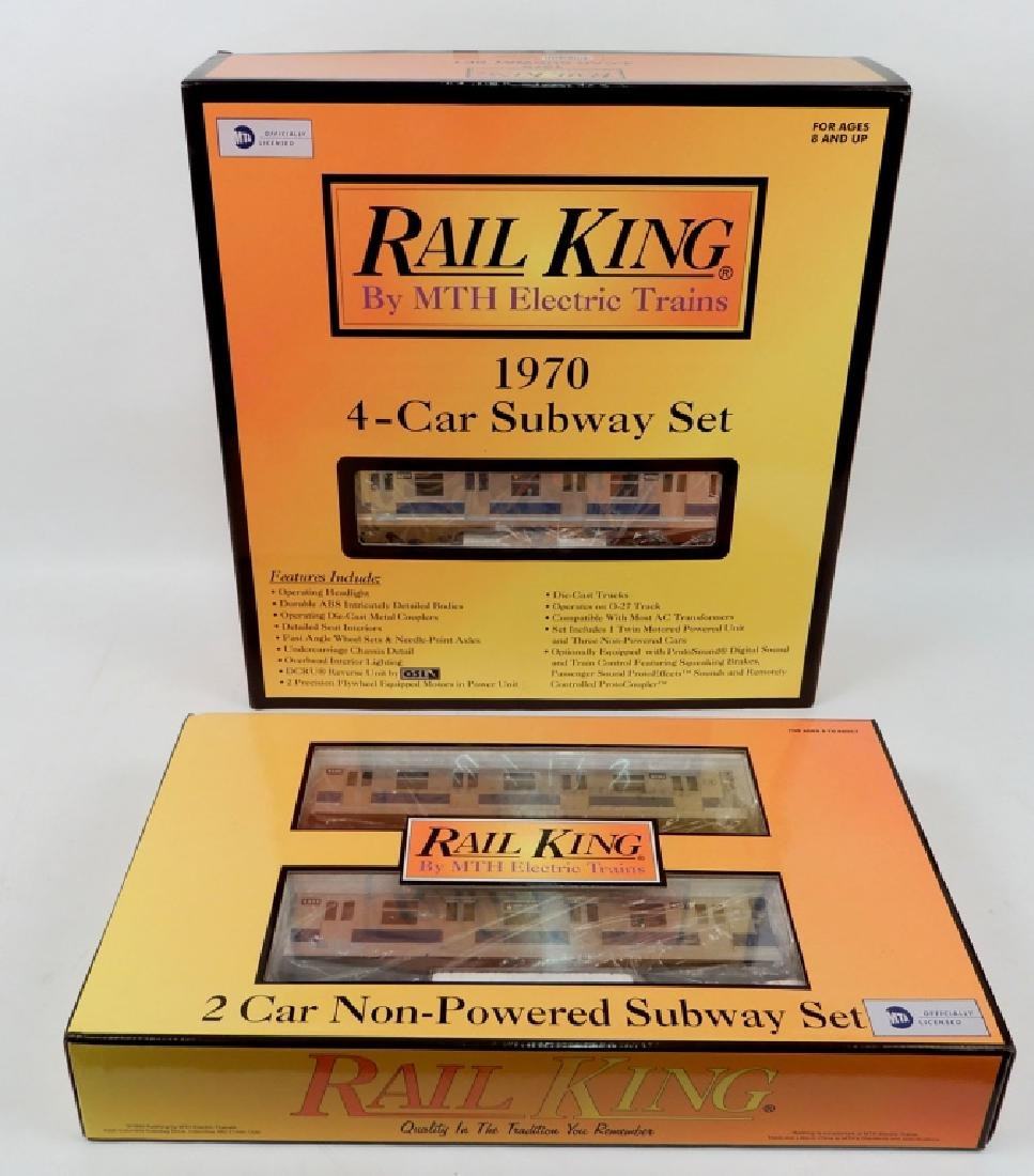 Rail King 1970 4-Car Subway set and 2-car add-on set in