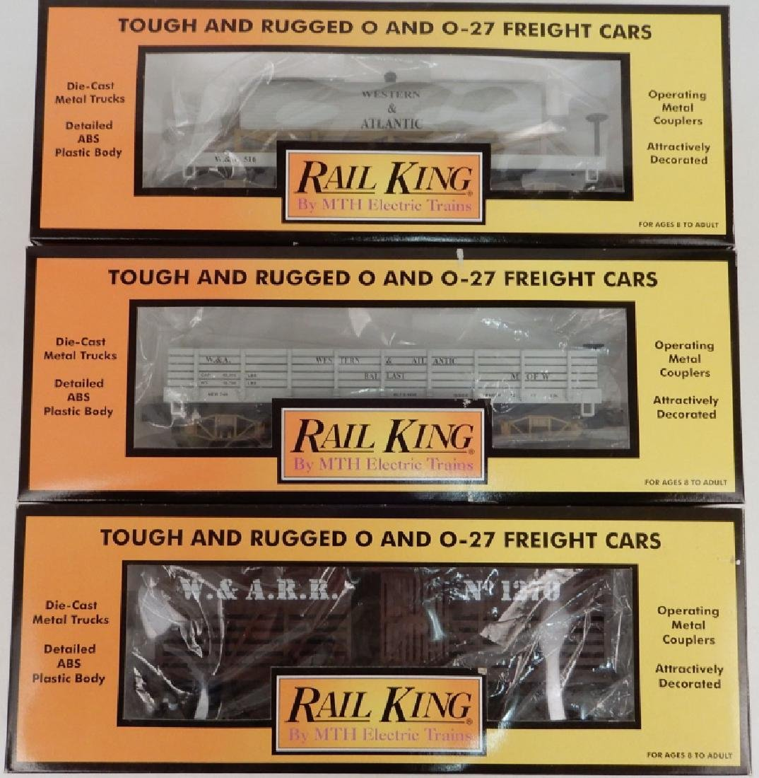 Three Rail King W.A.R.R. Freight Cars in boxes