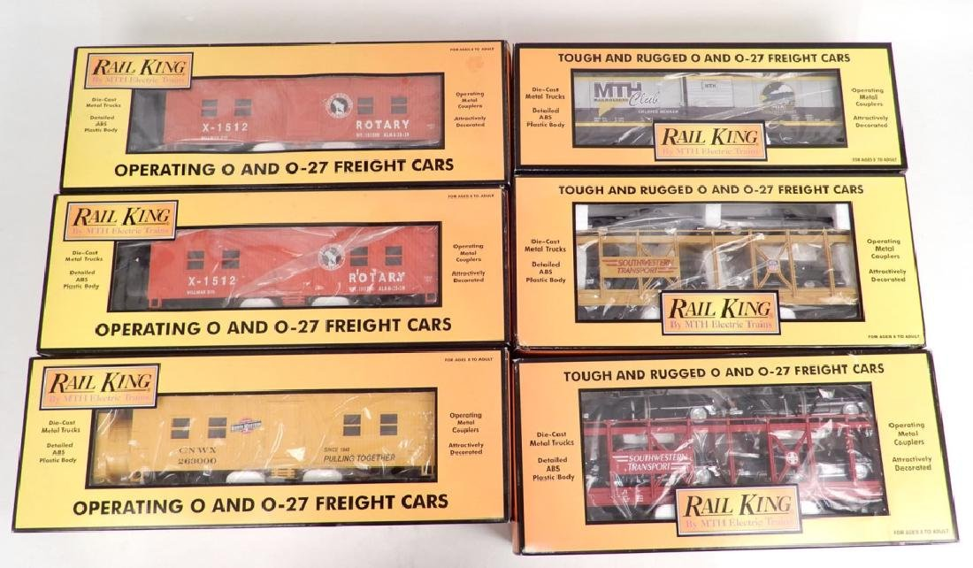 Six Rail King Freight Cars in original boxes