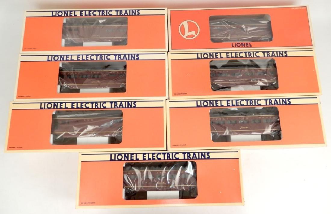 Lionel Norfolk & Western Aluminum Passenger cars in