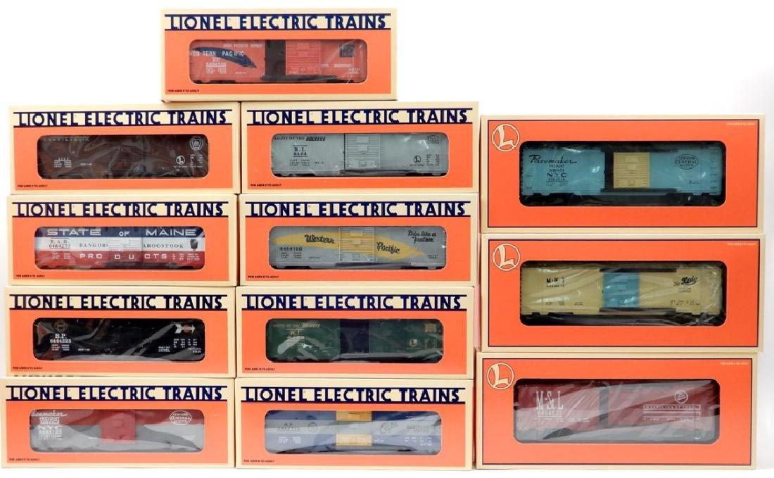 Lionel 6464 Boxcar series II, III, IV, and VIII
