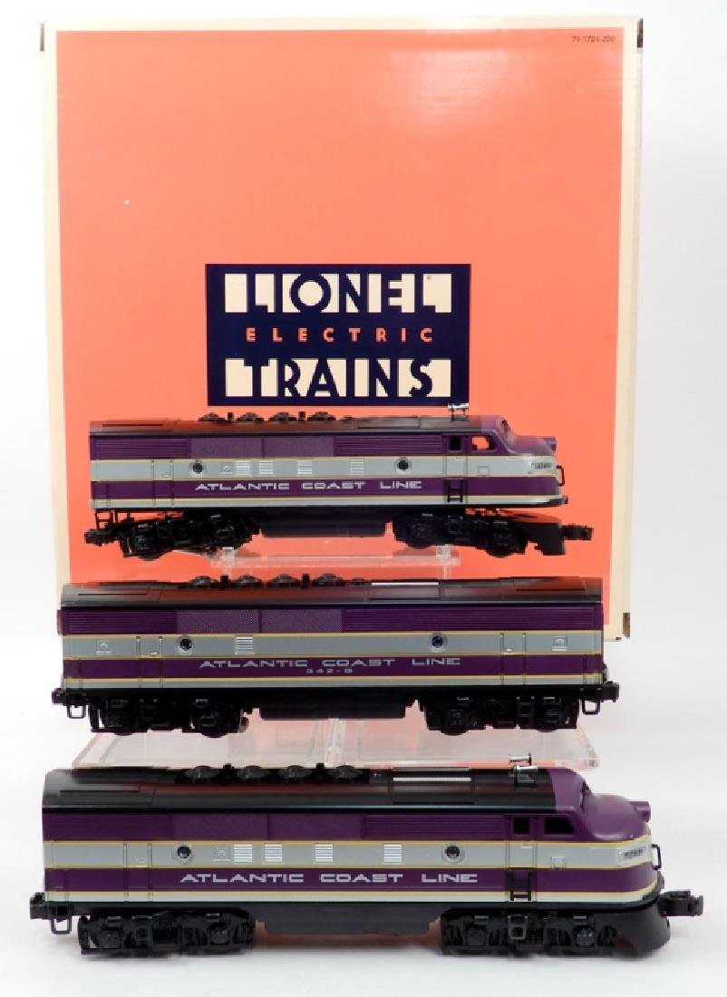 Lionel Atlantic Coast Line F3 A-B-A Diesel Locomotive