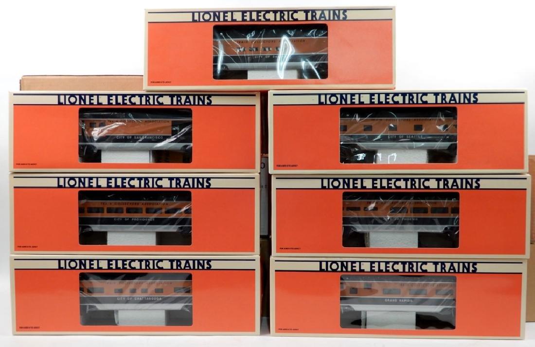 Seven Lionel TCA Passenger Cars in boxes