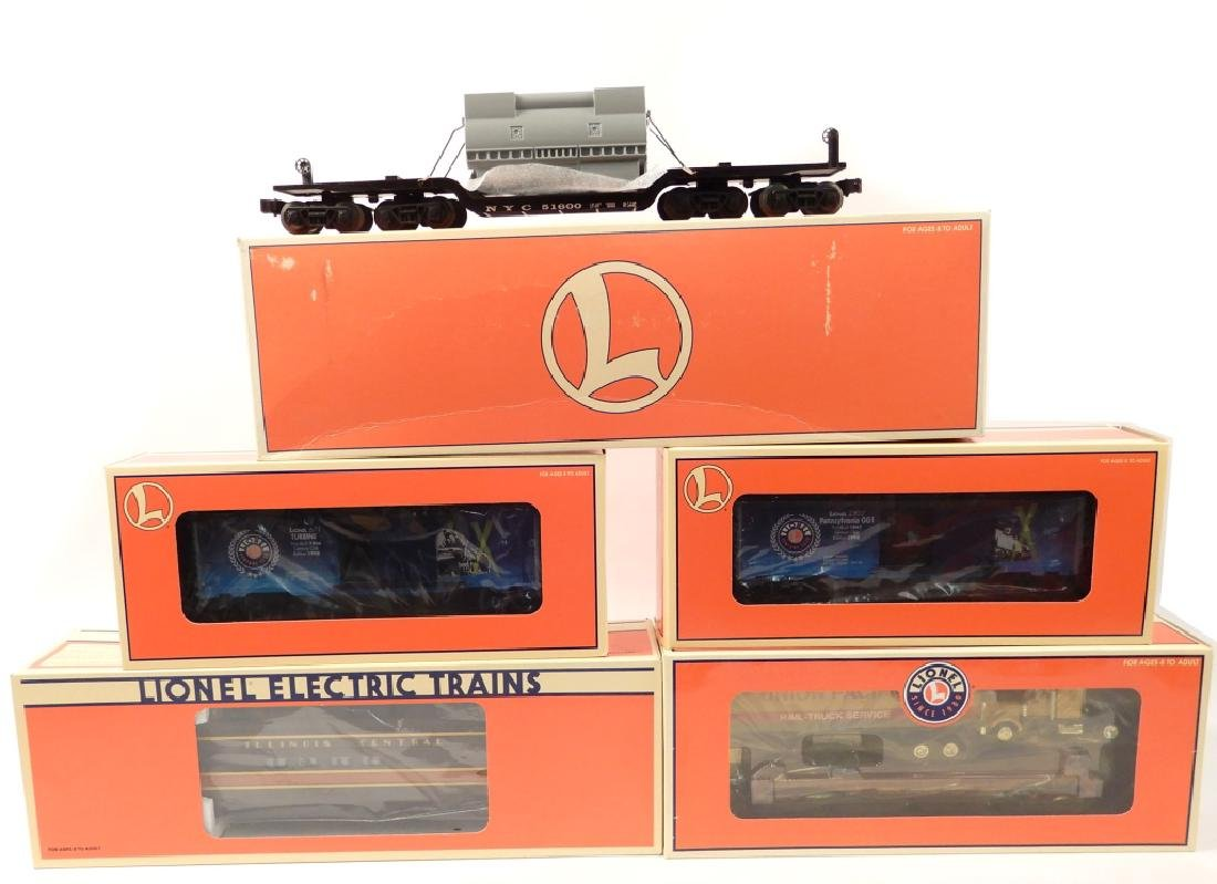 Five Lionel Freight Cars in original boxes