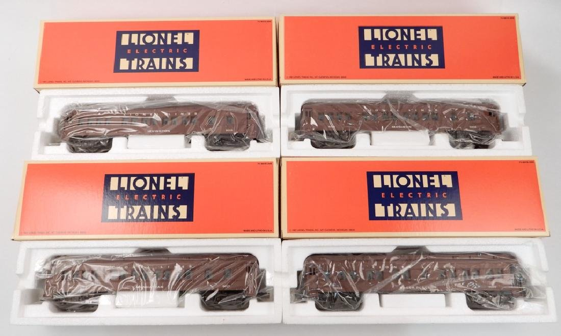 Four Lionel Madison Cars in boxes