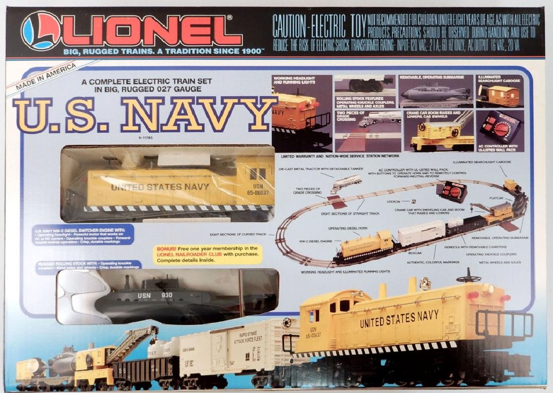 Lionel U.S. Navy freight set in original box