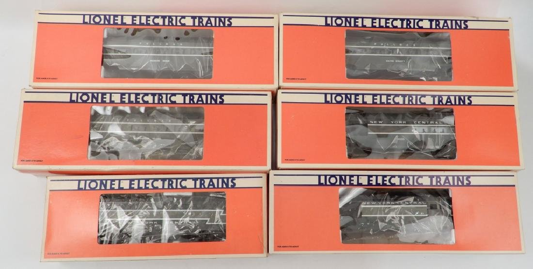Six Lionel NYC Passenger cars and F3-B dummy unit