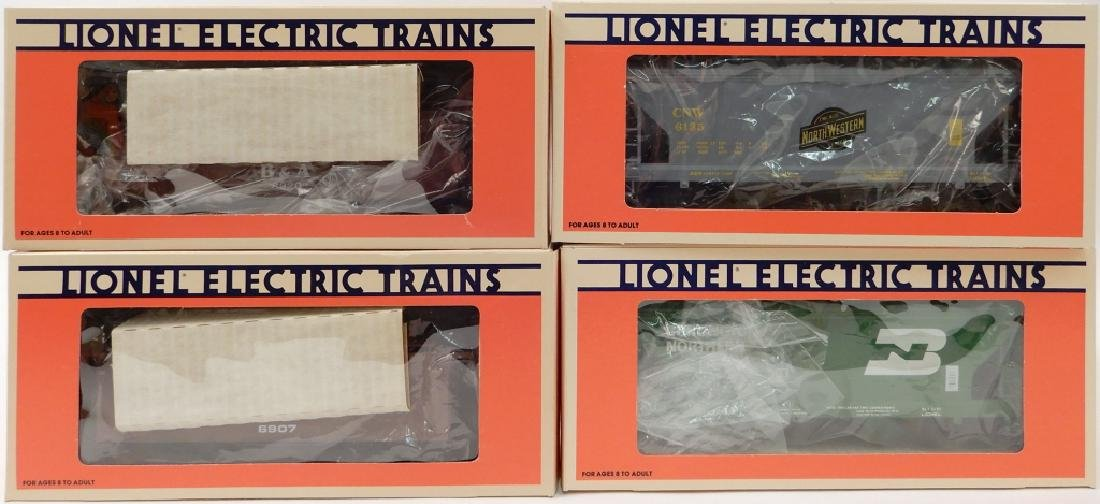 Two Lionel 2-car assortments in boxes