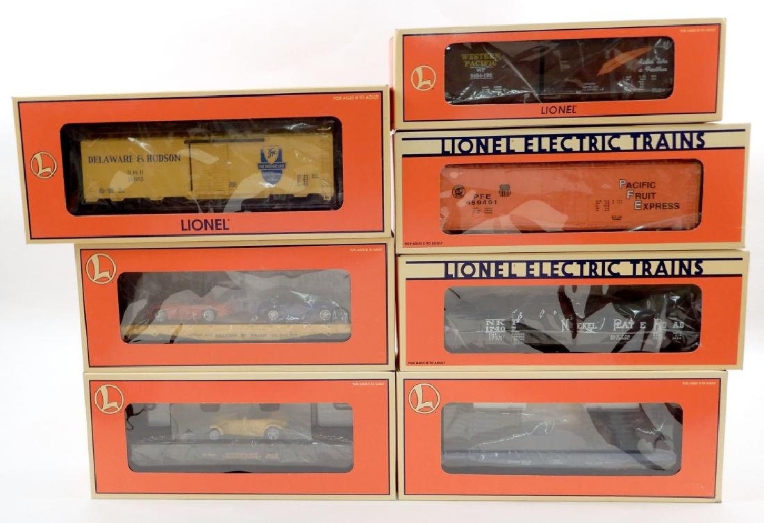 Seven Lionel Freight Cars in original boxes