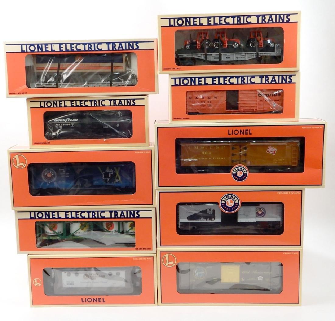 Ten Lionel Freight cars in original boxes