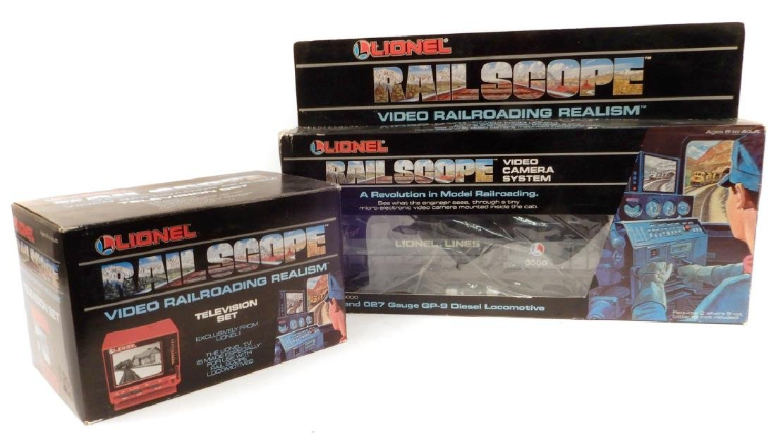 Lionel Rail Scope Locomotive and Television Set