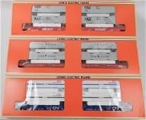 Three Lionel Maxi-Stack Flatcars in original boxes