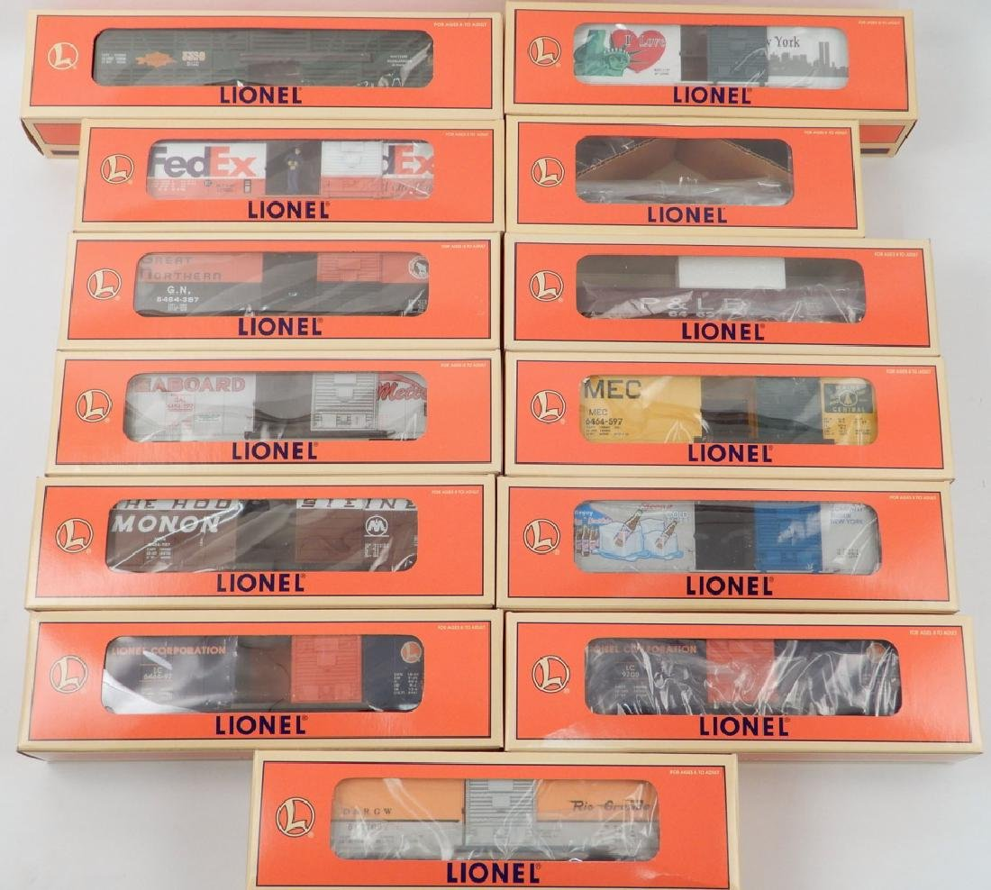 Thirteen Lionel Freight cars in original boxes