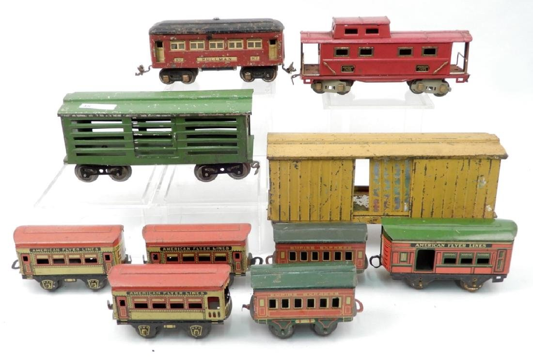 Grouping of prewar passenger and freight cars