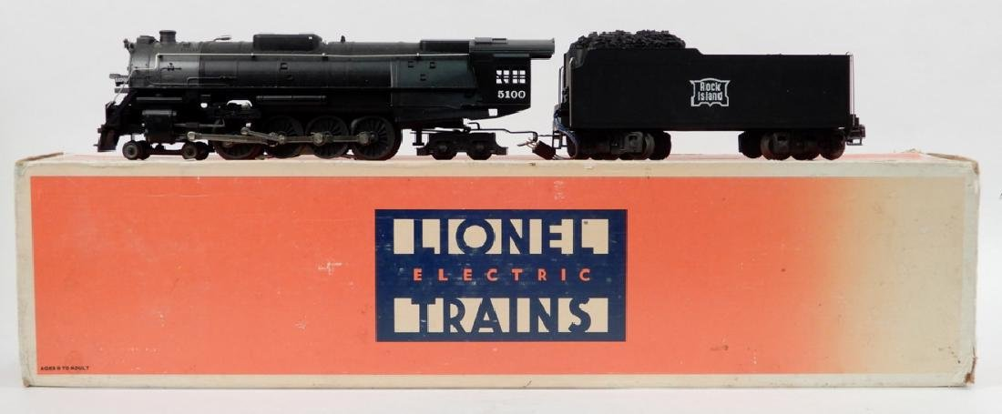 Lionel Rock Island 4-8-4 locomotive and tender in box