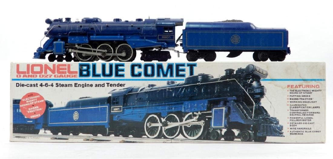 Lionel Blue Comet die cast 4-6-4 Steam Locomotive and