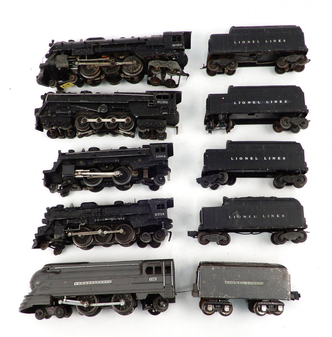 Lionel O gauge steam locomotives and tenders