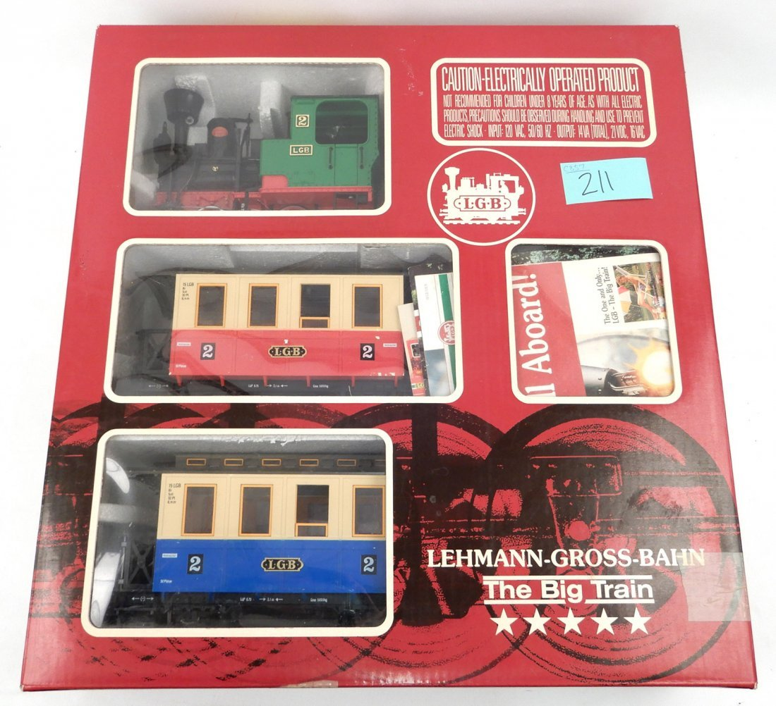 LGB The Big Train Set in original box, Passenger Train