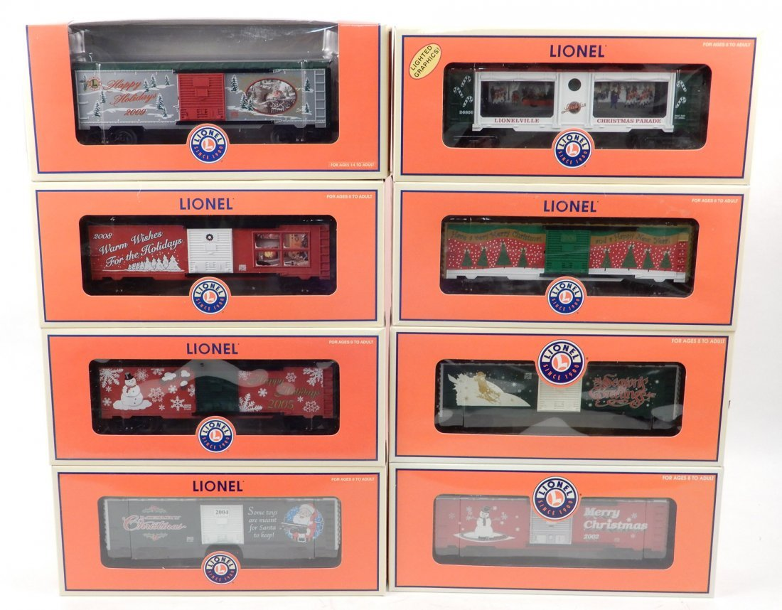 Eight Lionel Freight cars in original boxes