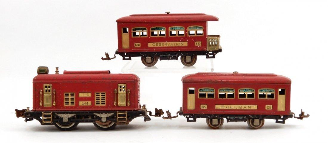 Lionel O gauge prewar passenger cars