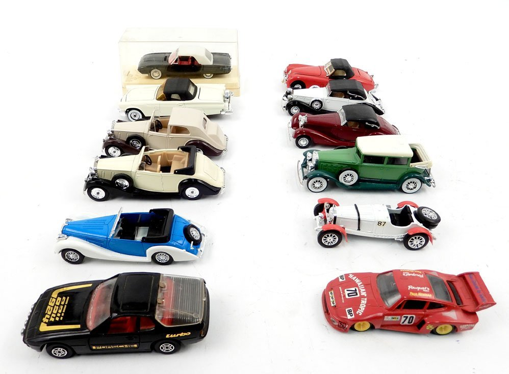 Solido and Corgi Toy cars, nine Solido automobiles