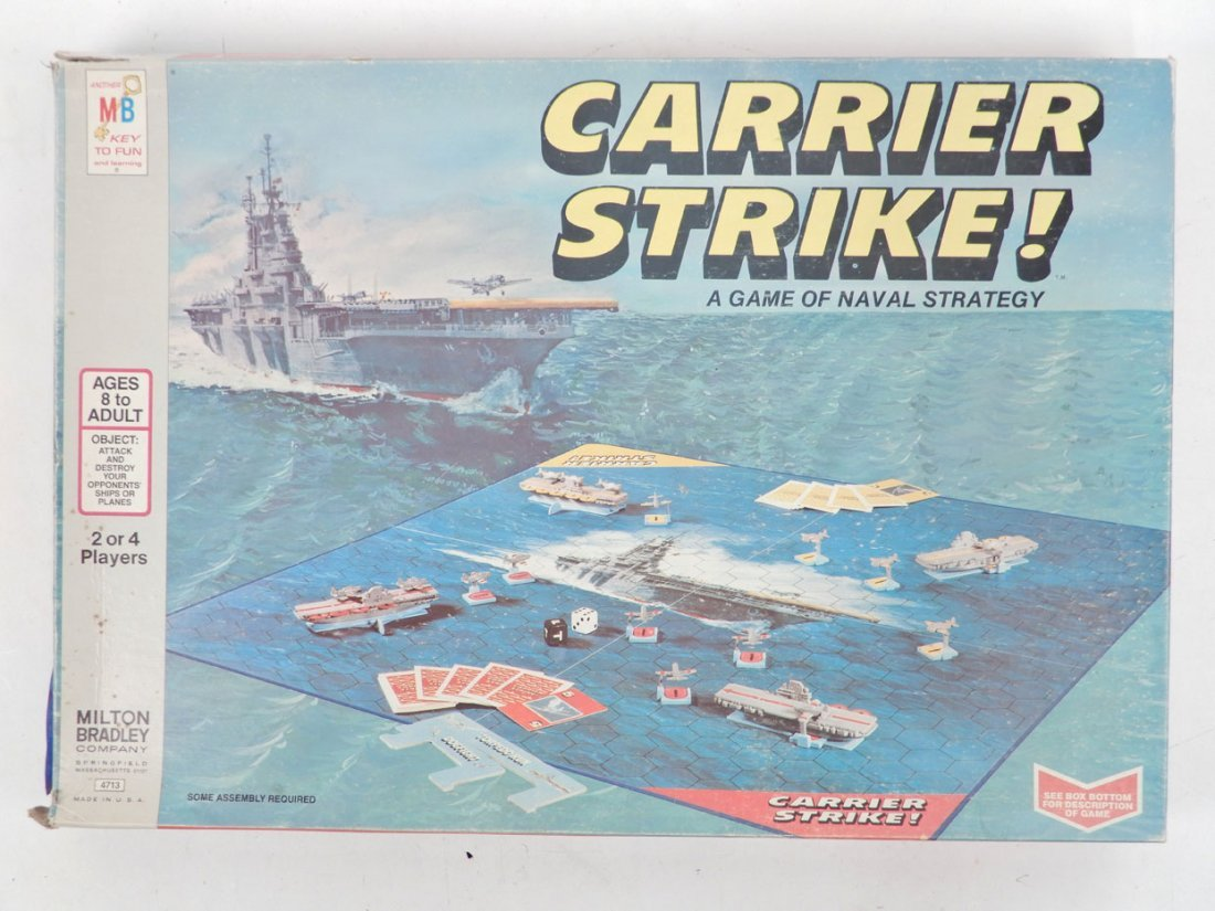 Three 1960's board games, includes Carrier Strike!