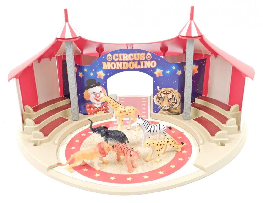 Circus Mondolino set, by Marklin, includes the tent