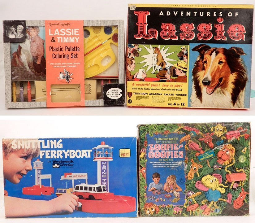 Four vintage toys in original boxes