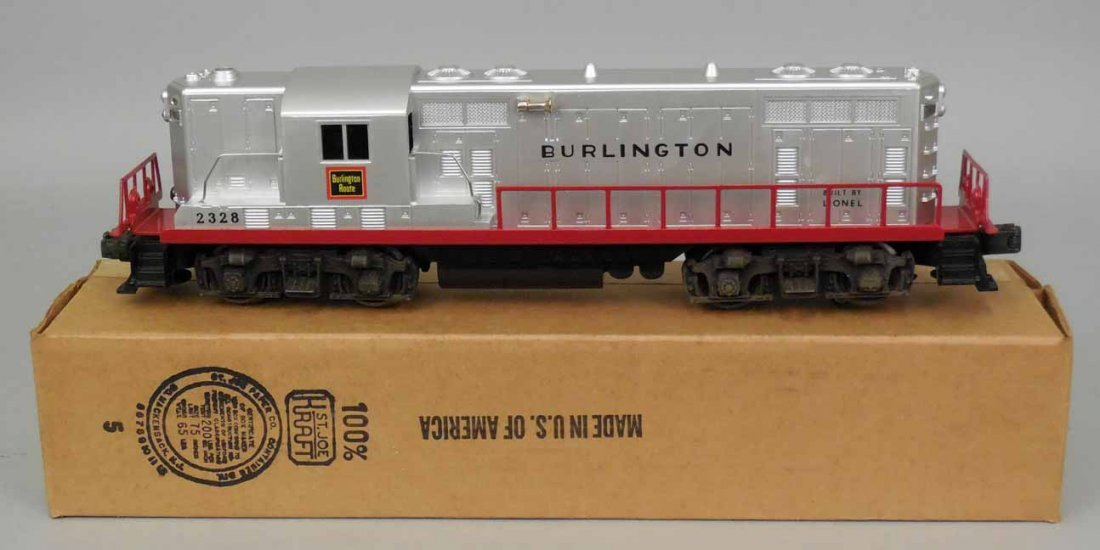 Lionel postwar O gauge no. 2328 Burlington diesel loco