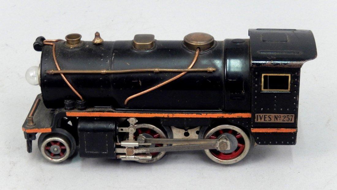 "Ives prewar O gauge No. 257 engine, 8 1/4"" long"