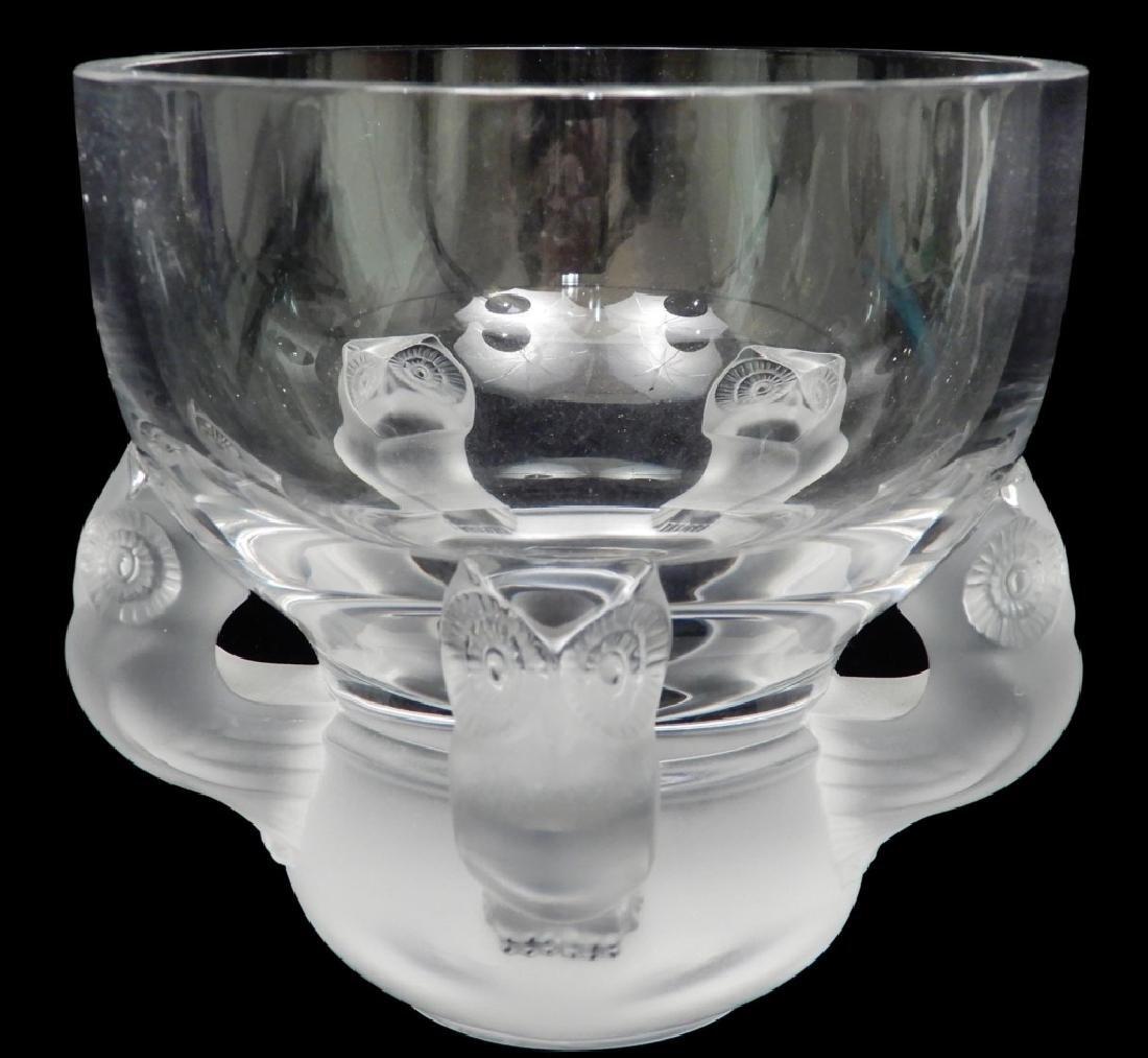 Lalique Hiboux flower vase