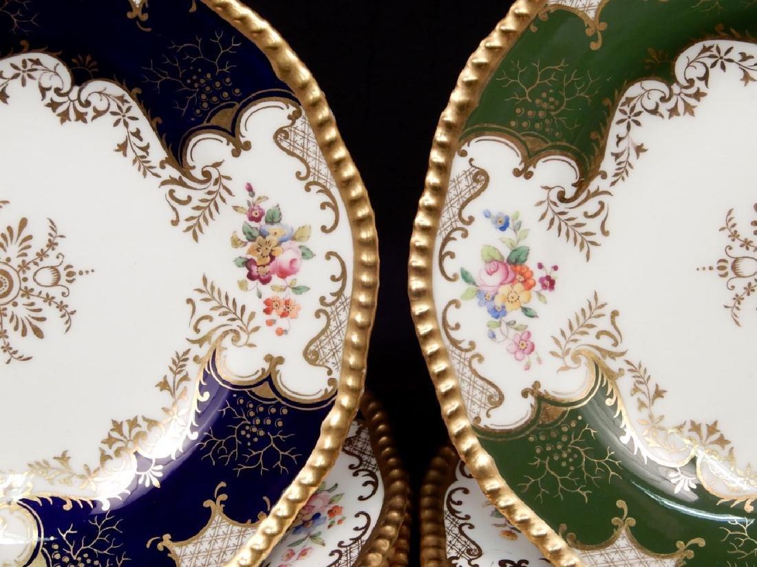 Eleven Coalport porcelain luncheon plates Panel pattern - 2